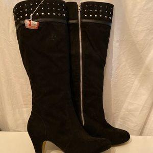 Bella Vita black suede boots 9.5W
